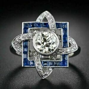 Vintage-Art-Deco-White-Round-Cut-Diamond-Pendent-in-Solid-14k-White-Gold