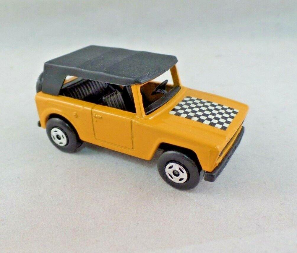 Vintage Matchbox Superfast campo coche Die Cast Coche Coche Coche de Juguete Amarillo Raro de tablero de ajedrez 44653c