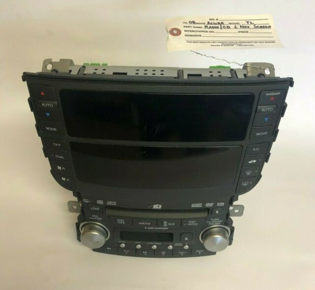 2008 Acura TL Radio/CD/Navigation Screen With Climate