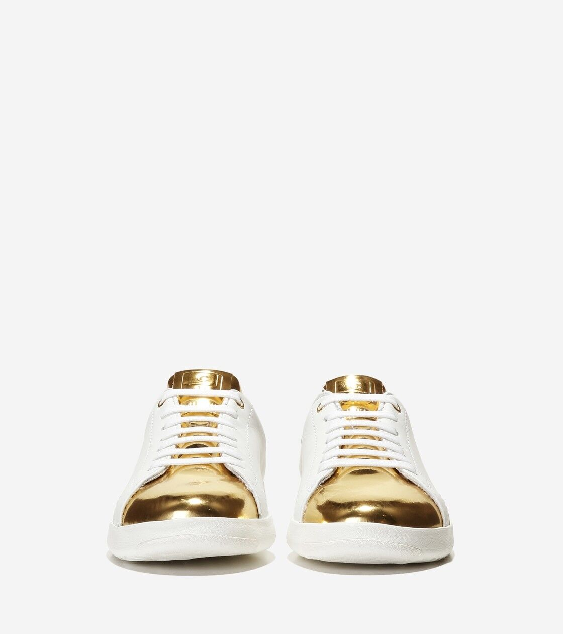 Women White Gold Leather Sneakers Cole Haan Grand Crosscourt Shoes NEW NEW Shoes b964c7