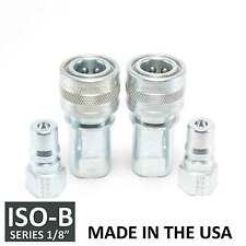 2 Sets 18 Iso B Hydraulic Hose Quick Disconnect Couplers Plug Iso 7241 1 B
