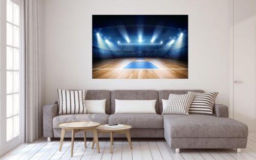Basketball Halle Sport Arena USA Leinwand Bild Wandbild Kunstdruck L1338