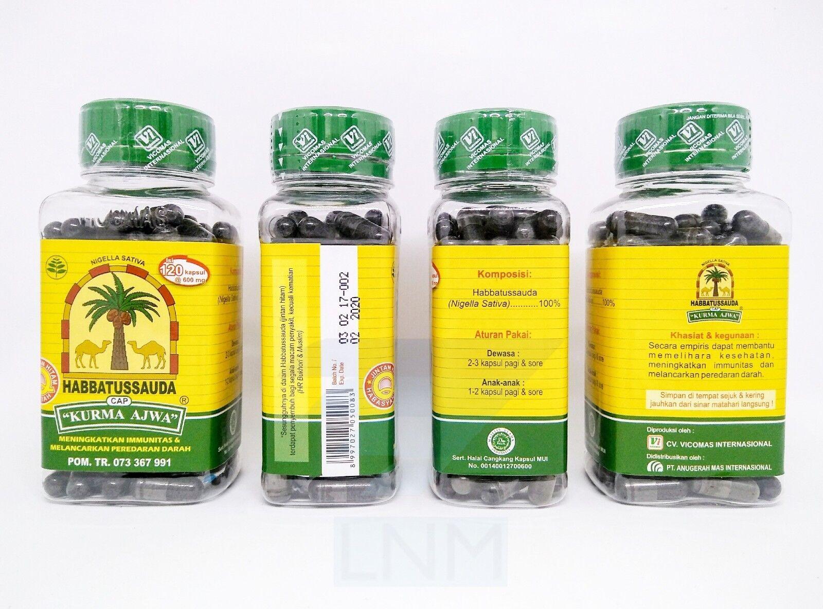 Nigella Sativa Black Seed Habbatussauda Kurma Ajwa 120 Capsules Ebay Habbasyifa 200 Kapsul Norton Secured Powered By Verisign