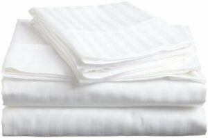 Queen-Sheet-set-4-PCs-Ultra-Soft-Microfiber-15-Inches-Deep-White-Stripe