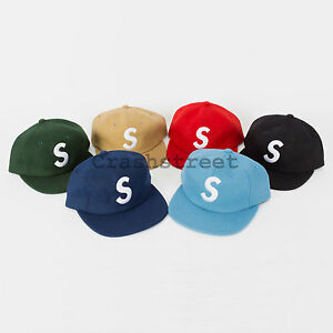 Image Is Loading Supreme Fw15 Wool S Logo 6 Panel Camp
