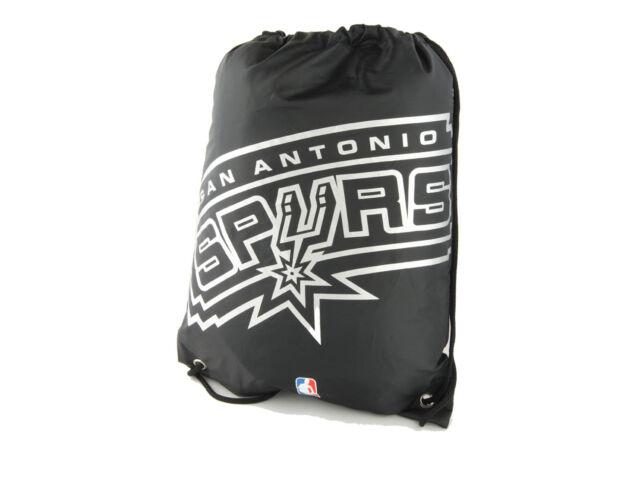 San Antonio Spurs Fan Gymbag NBA Turnbeutel schwarz Sportbeutel 45x35cm