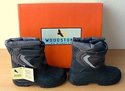 Woodstone Schneeschuhe, Boots, Schuhe Schnee, Jungen, Gr 32, schwarz - grau