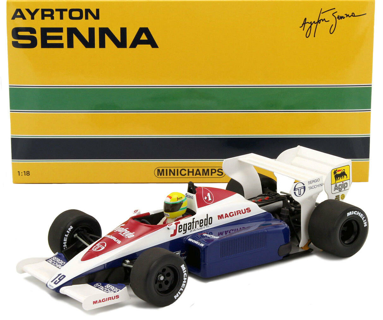 Minichamps transportaba Hart TG184 British GP 1984-Ayrton Senna Senna Senna 1 18 Escala 33d0a1