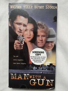 Man-With-A-Gun-VHS-1995-RARE-OOP-SCREENER-COPY-OutOfPrint-HTF-Madsen-Tilly