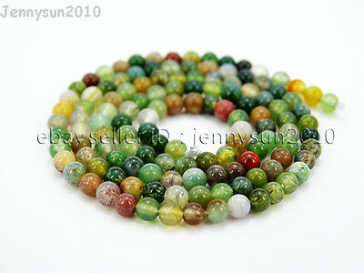 Natural Indian Agate Gemstone Round Beads 16'' 2mm 3mm 4mm 6mm 8mm 10mm 12mm