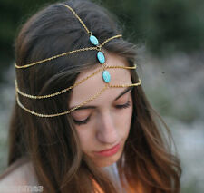 Multi Chain Blue Beads Head Band Sexy Head Band Lowest price