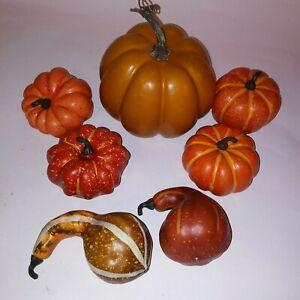 Set-of-7-Pumpkins-amp-Gourds-Fall-Decor-Home-Thanksgiving