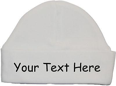 Personalised Own Wording Baby Bodysuit//Romper//Vest /& Hat//Cap NB-12m Boy Girl