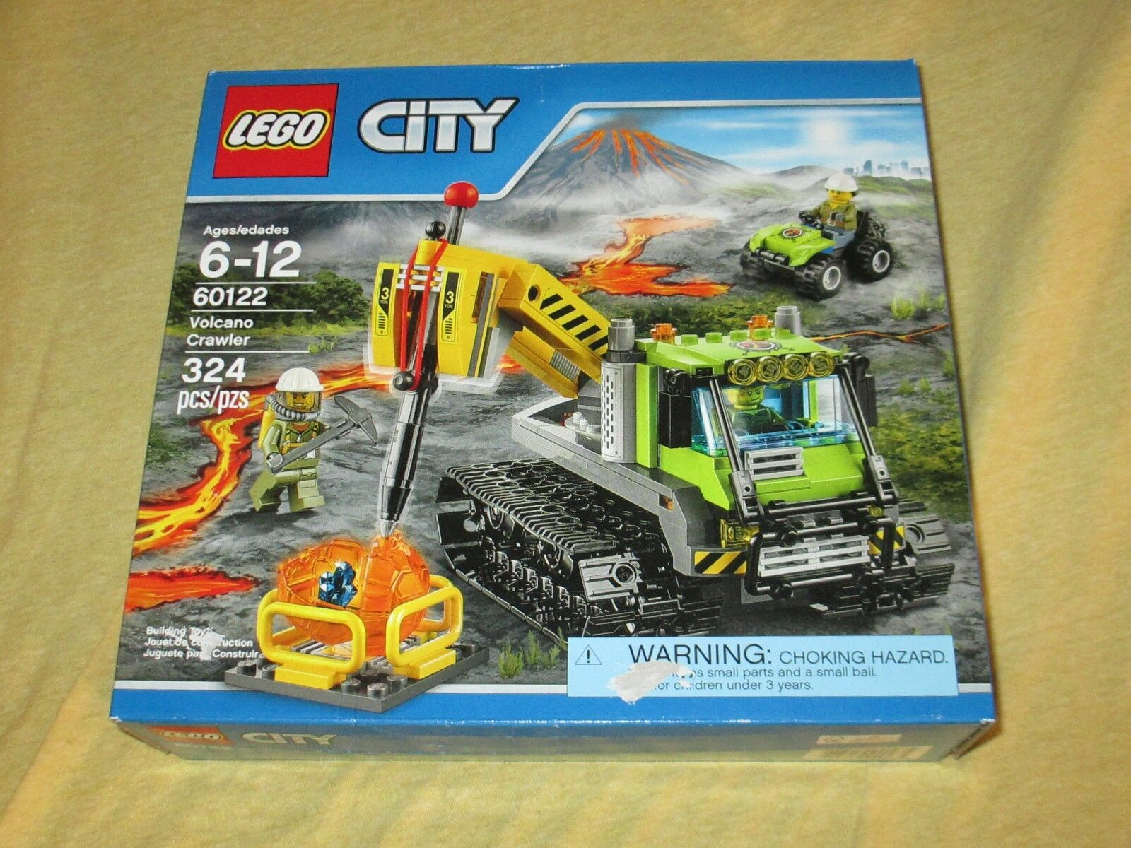 Lego Lego Lego City 324 Pieces Volcano Crawler 60122 – New 3f1bb0