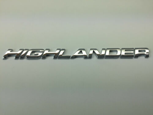 HIGHLANDER 3D Emblem Badge Letter Number alphapet logo car truck