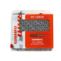 Sram Pc-1091r Powerlock Bicycle Chain-10 Speed-114 Links-silver-new on sale