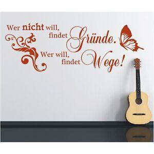 Spruch-WANDTATTOO-findet-Gruende-will-Wege-Wandsticker-Wandaufkleber-Sticker