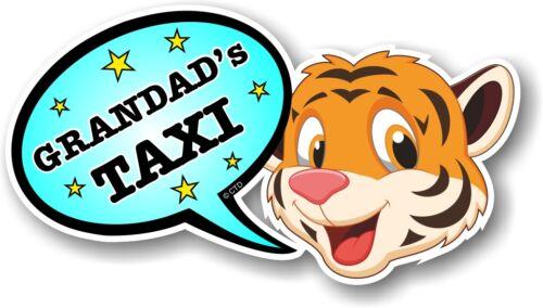 Drôle Nouveauté Mignon Tigre /& Blue Grandad/'s Taxi discours Bulle Vinyle Autocollant Voiture