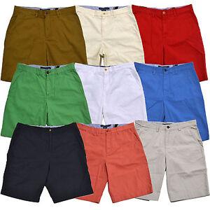 c70cbb67ba Tommy Hilfiger Mens Academy Shorts Flat Front Chino Bottoms Casual ...