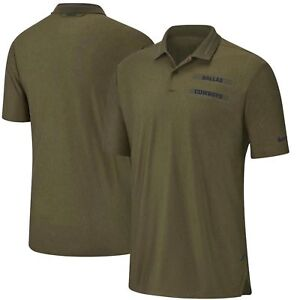 Dallas Cowboys Nike Salute to Service Sideline Dri-Fit Polo Olive ... 797201849