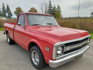 FOR SALE OR TRADE 1970 CHEVY C-10 SHORT BOX PICKUP