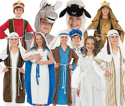 Gioco Per Bambini Scuola Natività Costume Costumi Vestito Dress Up 4-12 Anni-mostra Il Titolo Originale Gradevole Al Gusto