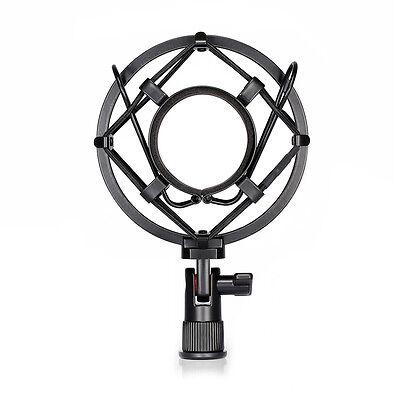 Black Universal Studio Microphone Shock Mount Fits for Mic of 43mm-46mm Diameter