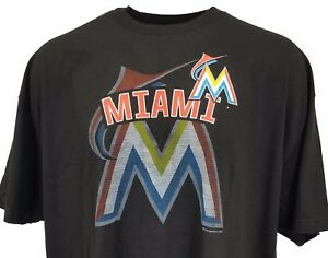 89fe28a38 Image is loading Miami-Marlins-Black-Men-039-s-Team-Logo-