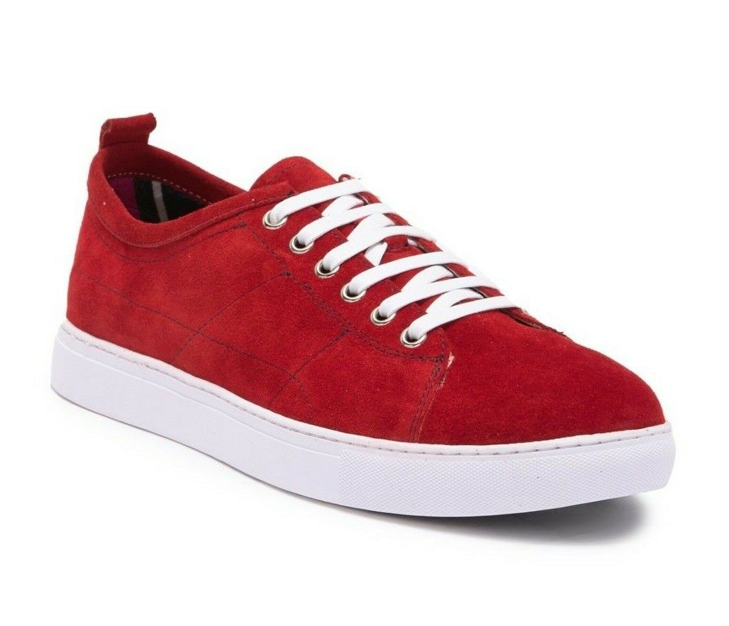 new style 7b9aa c6f44 195 Robert Graham Mens Ernesto Suede Low-Top Sneaker Red Size 12 Fashion  nobqyl50-Men s Casual