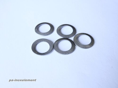 Schnorrscheiben a.9093 dischi di backup forma S in acciaio inox va a2 3,2mm per m3