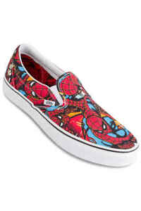 Details about Vans Marvel Spider-Man/Black Mens Classic Slip-On Shoes