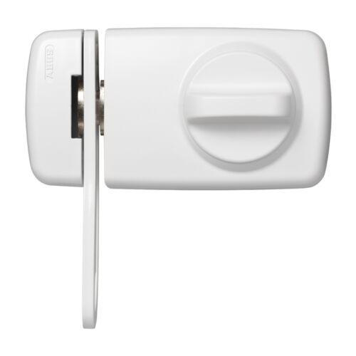Zylinder Riegel ABUS elegantes Tür-Zusatzschloss 7030 mit Sperrbügel weiß