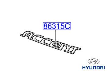 863111E000 Genuine HYUNDAI Accent 2006-badge emblème