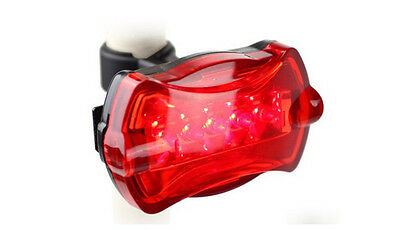 2016 Bicycle Bike Cycling 5 Led Tail Rear Safety Flash Light Lamp Red With Mount