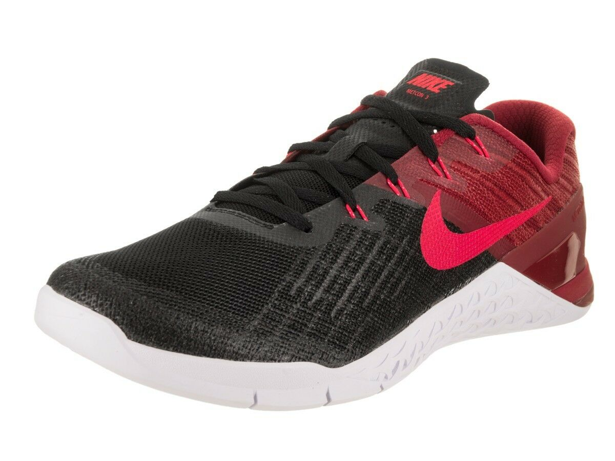 huge discount e4ba9 a9b3f NEW MENS NIKE METCON 3 SHOES BLACK SIREN RED RED RED WHITE SIZE 7 (852928