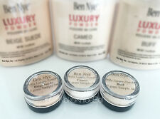 Ben Nye Cameo Beige Suede & Buff 3pc Sample Set | 5gr Jars | Fine Setting Powder