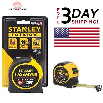 FatMax Strong Magnetic Tape Measure Adheres Metal Surfaces Beams Pipes Duct
