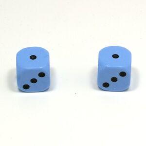 1-Pair-of-Baby-Blue-Dice-Dust-Caps-Snake-Eyes-for-BMX-80-039-s-Retro-Valve-Caps