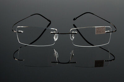 New Fashion Flexible Rimless Reading Glasses Light Weight Eyeglass Frames Reader