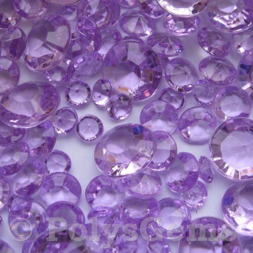LIGHT PURPLE WEDDING TABLE DIAMONDS SCATTER CRYSTALS