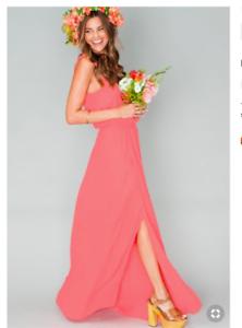 8e1d05b628557 Show Me Your Mumu Kendall Maxi Dress ~ Bright Coral Crisp Size XS | eBay