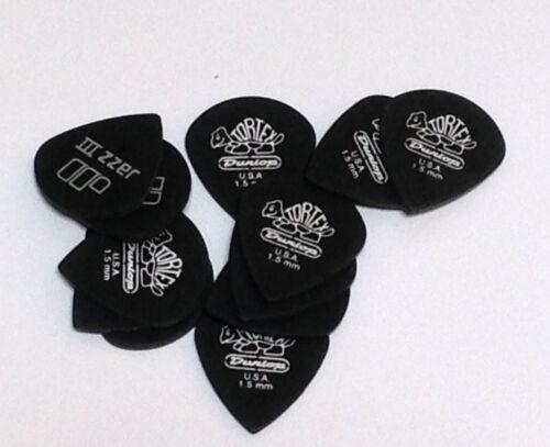 Dunlop Guitar Picks  12 Pack  Tortex Pitch Black Jazz  1.50mm  482P1.50