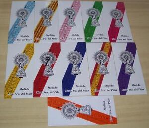 LOTE DE 5 CINTAS VIRGEN DEL PILAR, elige colores. Envio certificado -.-.