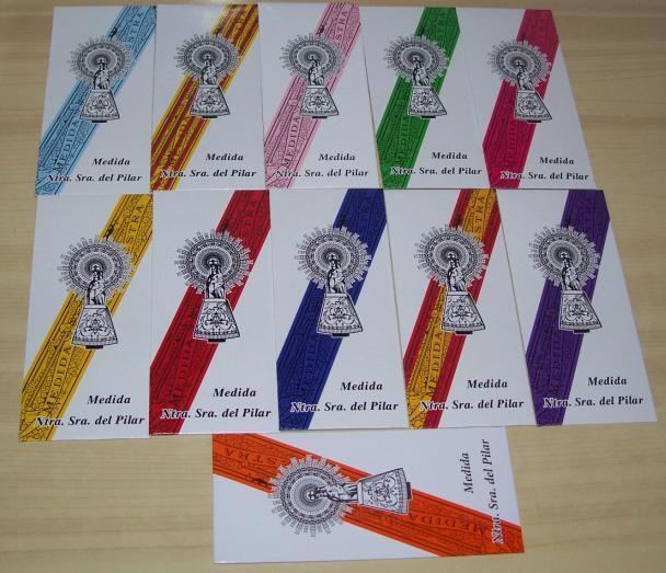 LOTE DE 5 CINTAS VIRGEN DEL PILAR, elige colores. Envio certificado --