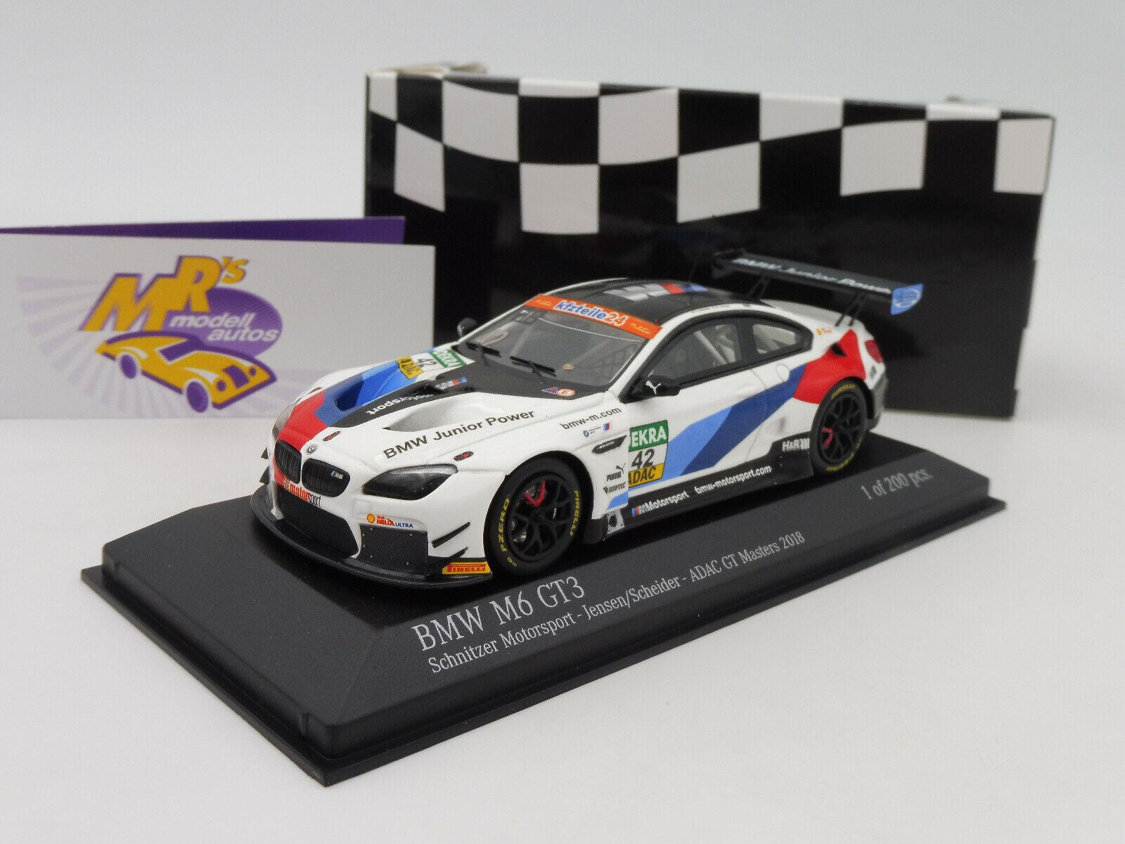 MINICHAMPS 447182642   BMW m6 gt3 ADAC GT-Masters 2018 No. 42  Solivore  1 43