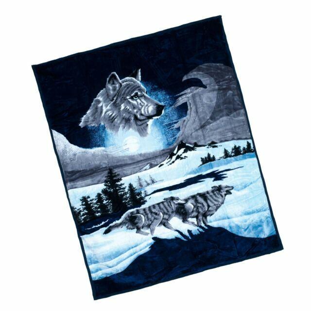 8 pound Lavish Home Wolf Heavy Thick Plush Mink Blanket