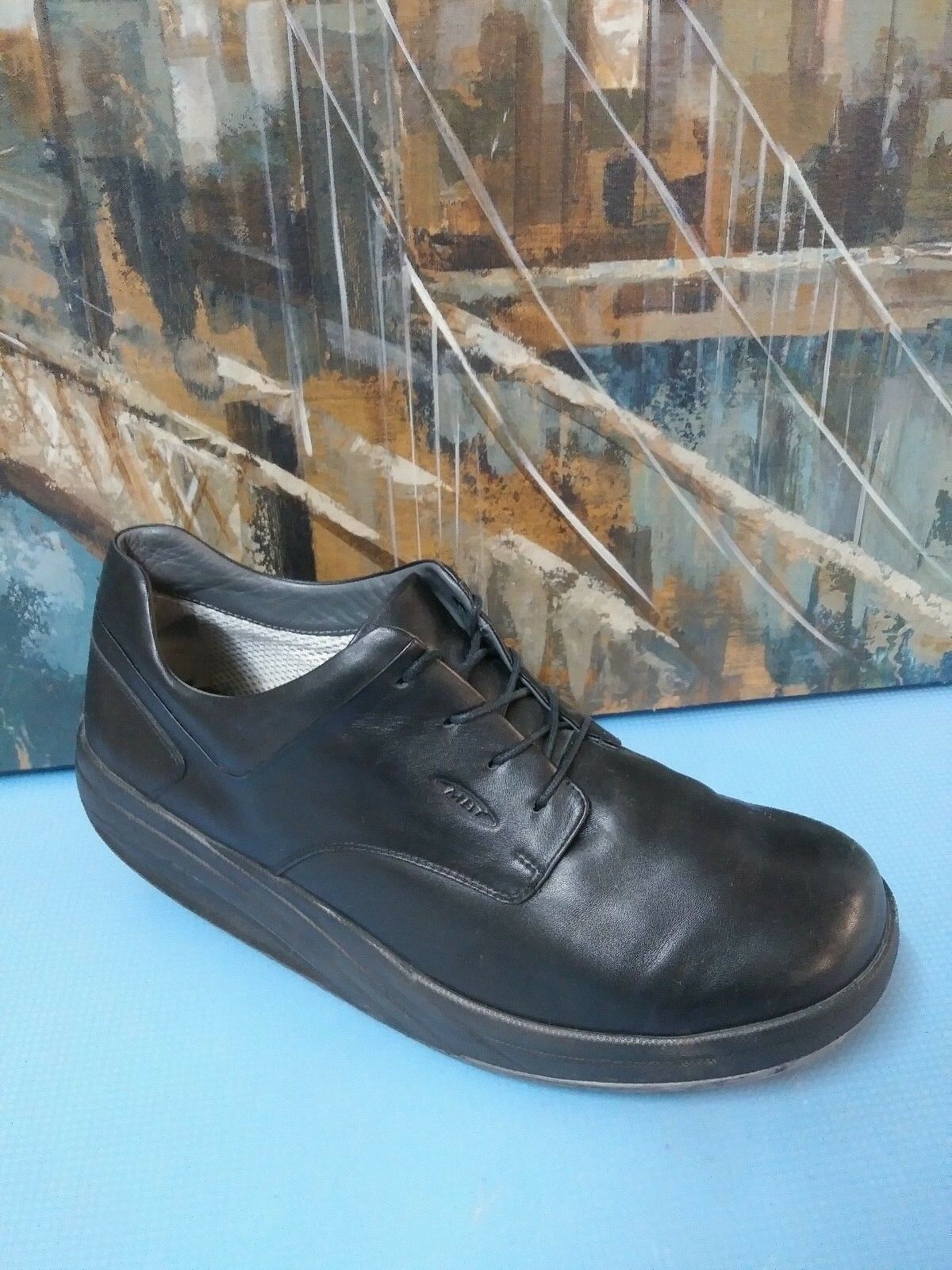 MBT KARANI M BLACK LEATHER THERAPEUTIC 11.5 WALKING Schuhe OXFORDS SIZE 11.5 THERAPEUTIC 73ea3a