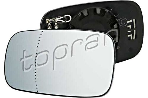 Aspherical Heated Wing Side Mirror Glass Left Fits Renault Clio III 3 01
