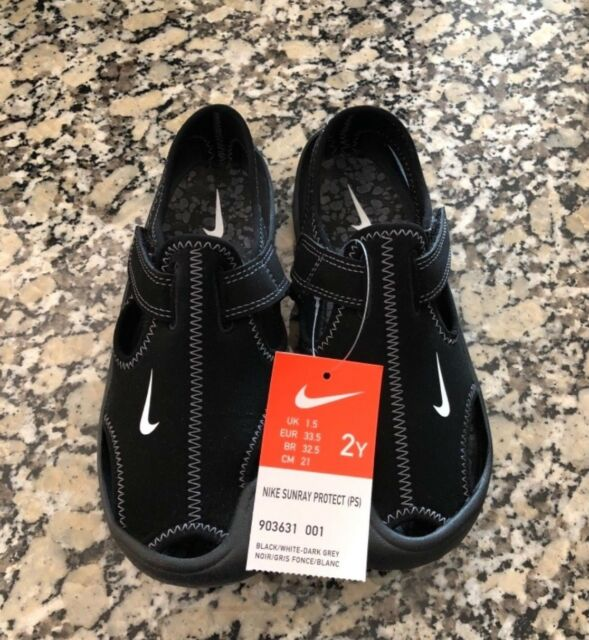 399419a3df5 Nike Sunray Protect Girls Water Shoes Sandals Size 2y Black 903631 ...