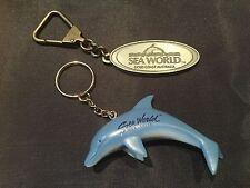 Lot Of 2 Sea World Gold Coast Australia Keychains Dolphin